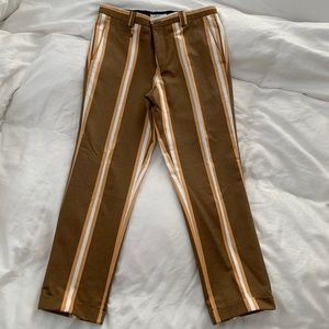 Viggo/ ASOS men's stripe cropped pants